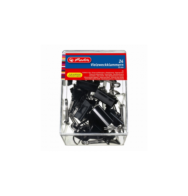 CLIPS METALIC 32MM SET 24