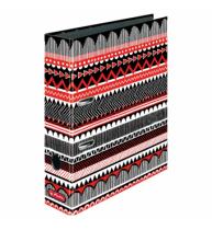 BIBLIORAFT MAX.FILE A4 8 CM, MOTIV BLACK WOW ETNO