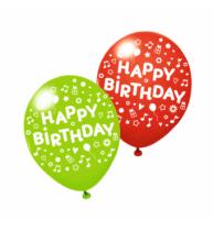 BALOANE HAPPY BIRTHDAY DIVERSE CULORI, CALITATE HELIUM, BIODEGRADABILE,  SET 3 BUCATI