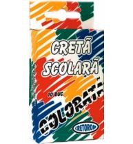Creta colorata, 10 bucati/cutie