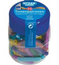 Patroane cerneala colorata, 50 bucati/set