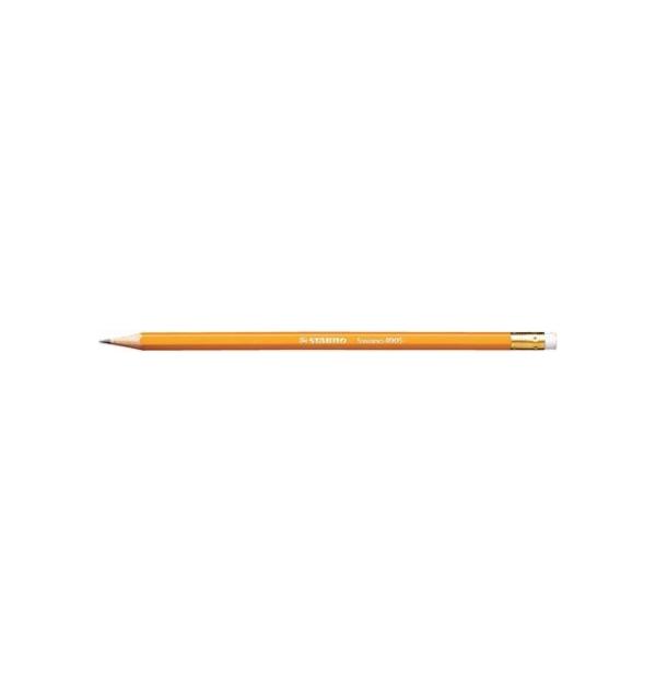 Creion grafit cu radiera Stabilo Swano 4905, HB