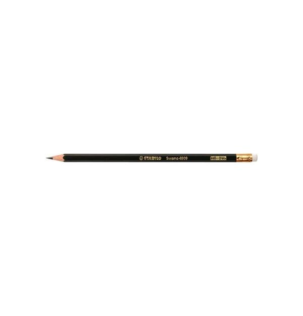 Creion grafit cu radiera Stabilo Swano 4909, HB