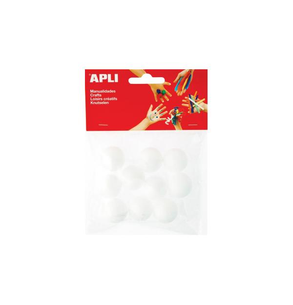 Material spumos pentru lucru manual Apli, in forma de bila cu diametru de 25 mm, 10 bucati/set