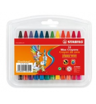 Creioane cerate Stabilo Yippy, 12 bucati/cutie