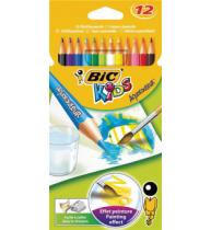 Creioane colorate Bic Aquacouleur, 12 bucati/set