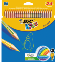 Creioane colorate Bic Tropicolors 2, 24 bucati/set