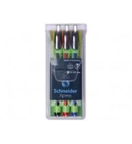 SET 3 FINELINER SCHNEIDER XPRESS, 0,8 mm