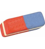 Radiera pentru creion si cerneala, bicolora