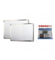 TABLA ALBA MAGNETICA 90x60 cm rama aluminiu + CADOU!!! (SET 4 MARKER WHITEBOARD + BURETE)