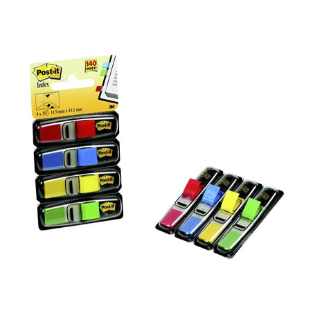 INDEX MINI POST-IT 11,9x43,2 mm, 4 culori neon