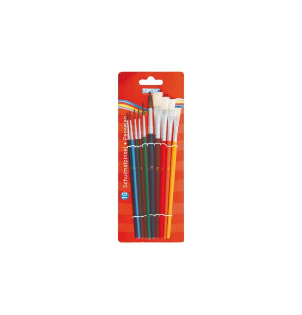 Pensule pentru pictura, 10 bucati/set