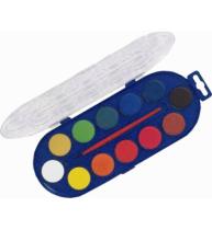 Acuarele Morocolor, 12 culori, diametru pastila 30 mm