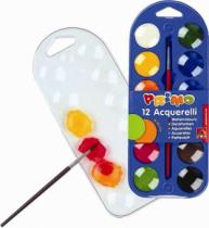 Acuarele cu paleta Morocolor, 12 culori, diametru pastila 30 mm