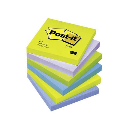 NOTES AUTOADEZIV POST-IT MINT 76X76 mm, 6 culori neon/set