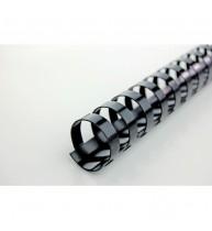 Spira GBC din plastic pentru legare 28mm, 50 bucati/cutie (240 coli), negru
