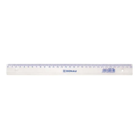 Rigla plastic 30 cm, DONAU