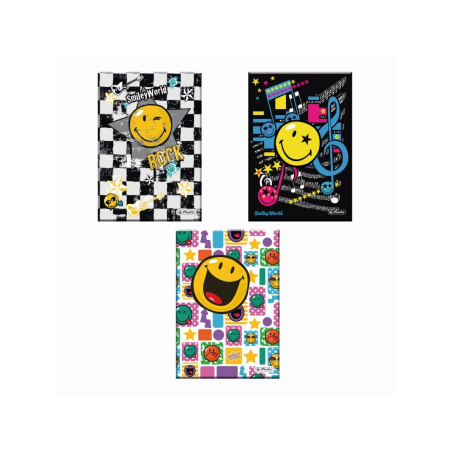 CAIET A5 96F PATRATELE COPERTA TARE SMILEY WOLRD