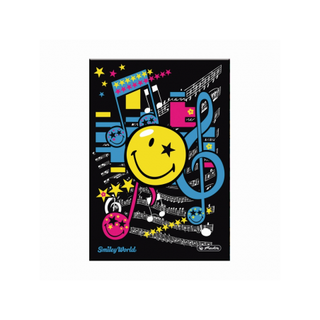 CAIET A5 96F PATRATELE COPERTA TARE SMILEY WORLD POP