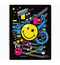 CAIET A4  70F SPIRALA PATRATELE PERFORAT SMILEY WORLD POP