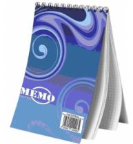 Blocnotes cu spira Memo, A6, matematica