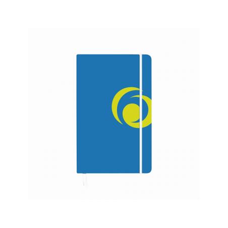 BLOC NOTES A5 88 FILE PATRATELE COPERTA CARTON CU ELASTIC ALBASTRU INTENS