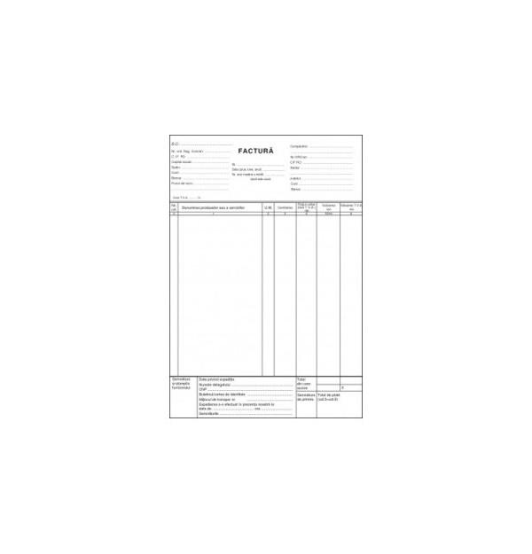 FACTURIER AUTOCOPIATIV A4 3 exemplare