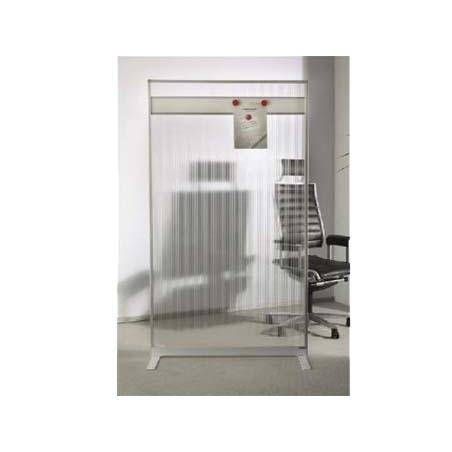 PERETE DESPARTITOR ACRILIC MAGNETOPLAN 1103880, cu banda magnetica