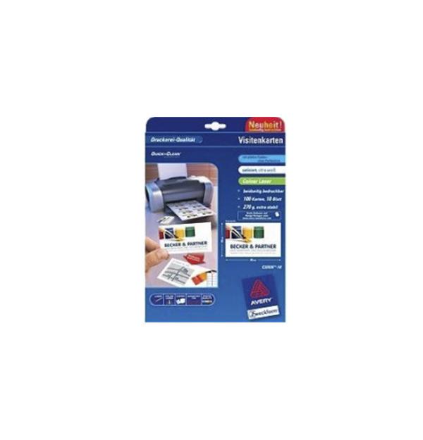CARTON PT. CARTI DE VIZITA ALB AVERY C32026-10 (laser)