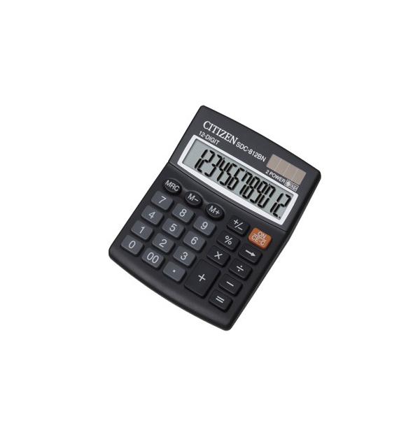 CALCULATOR 12 DIGITS, CITIZEN SDC-812BP