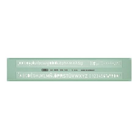 SABLON LITERE PROFIL H (DIN 1451) 6 mm, M+R