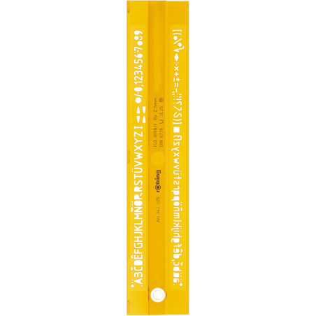 SABLON ROTRING LITERE ROMANE 0.25 mm, S0228430