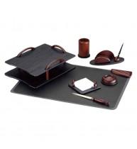SET BIROU 7 PIESE LUX (culoare lemn negru+cires) EVO-EV3N05
