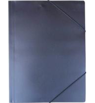 Mapa documente, negru ,inchidere cu elastic, A4, plastic