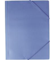 Mapa din plastic, inchidere cu elastic, A4, 350 microni, albastru