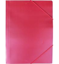 Mapa documente, rosu, inchidere cu elastic, A4, plastic